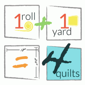 1+1=4: 1 roll + 1 yard = 4 quilts for charity