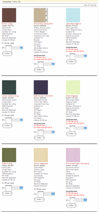 Too many confusing fabrics.