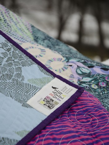 Thorny Patchwork label detail