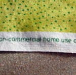 Sold for non-commercial home use only is printed on the selvage