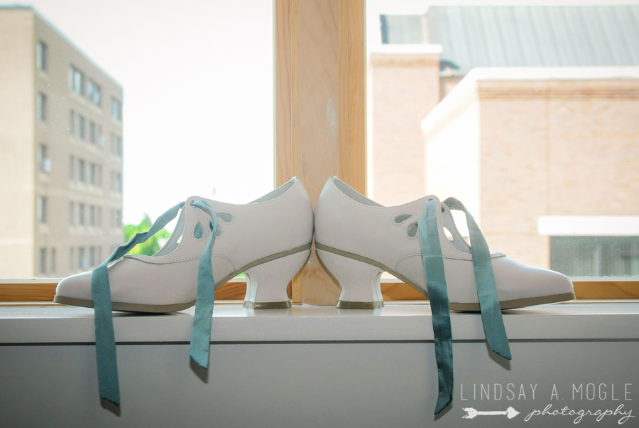 Wedding shoes — American Duchess Gibson — Photo by Lindsay Mogle