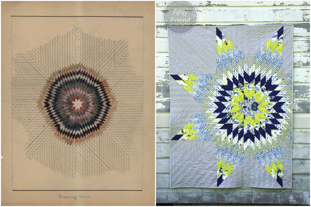 Quilt Pattern 320: Blazing Star / Luxe in Bloom Lone Star by Amy Friend