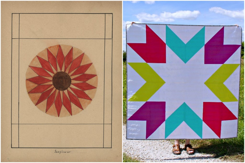 Quilt Pattern 221: Sunflower / Giant Starburst by Megan Pitz