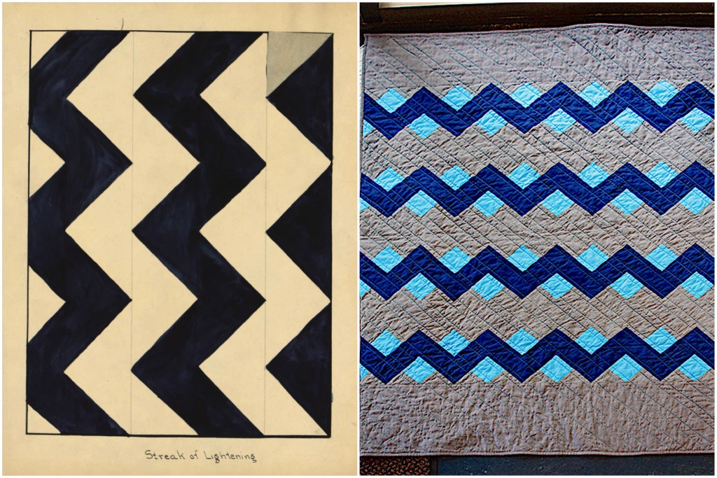 Quilt Pattern 026: Streak of Lightning / Stacked Zigzags by Rebecca @alreadyinmypjs