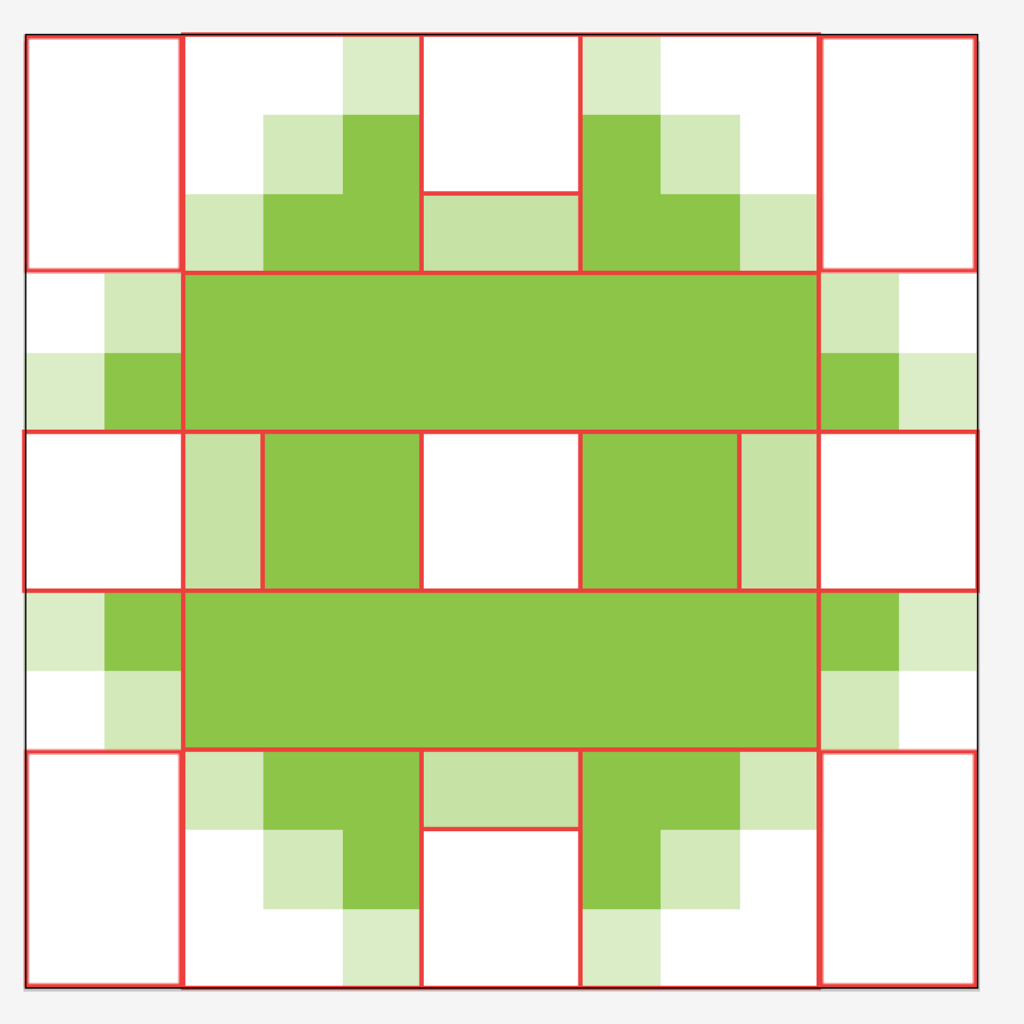 Make it Modern Pixelated Blocking Structure
