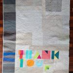 """Thank You, Madam President"" side one, with blocks made by members of the Vermont Modern Quilt Guild. Source: https://www.instagram.com/p/Bcu1sofFUiC/?taken-by=anyabyam"