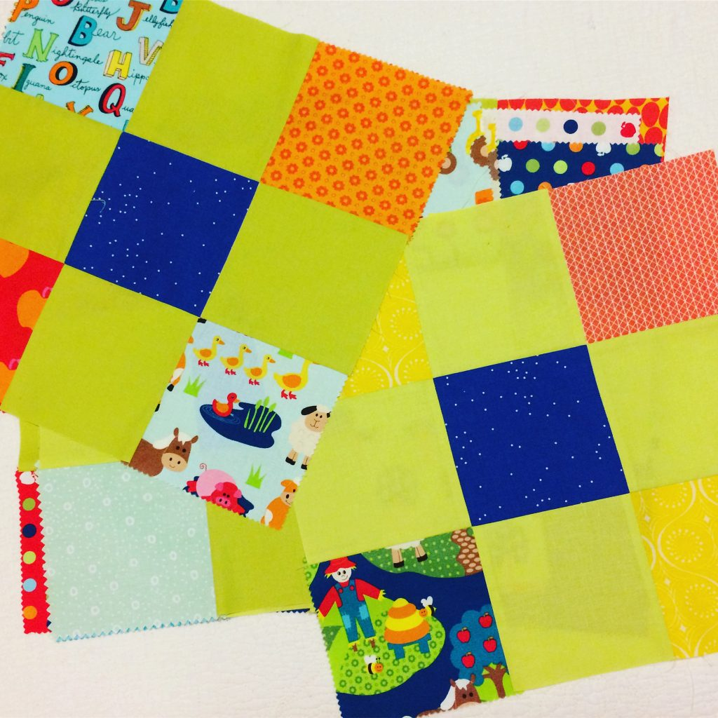 """Nine-Patch Animals"" blocks in progress"