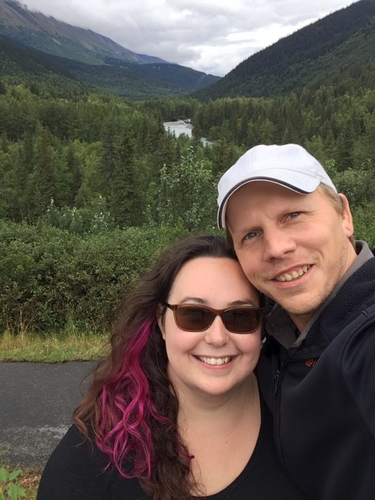 Carl and Rae outside of Hope, AK. August 2017.