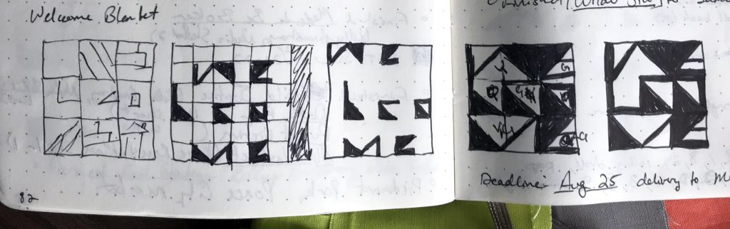 "Sketches of the concept that became ""Welcome"""